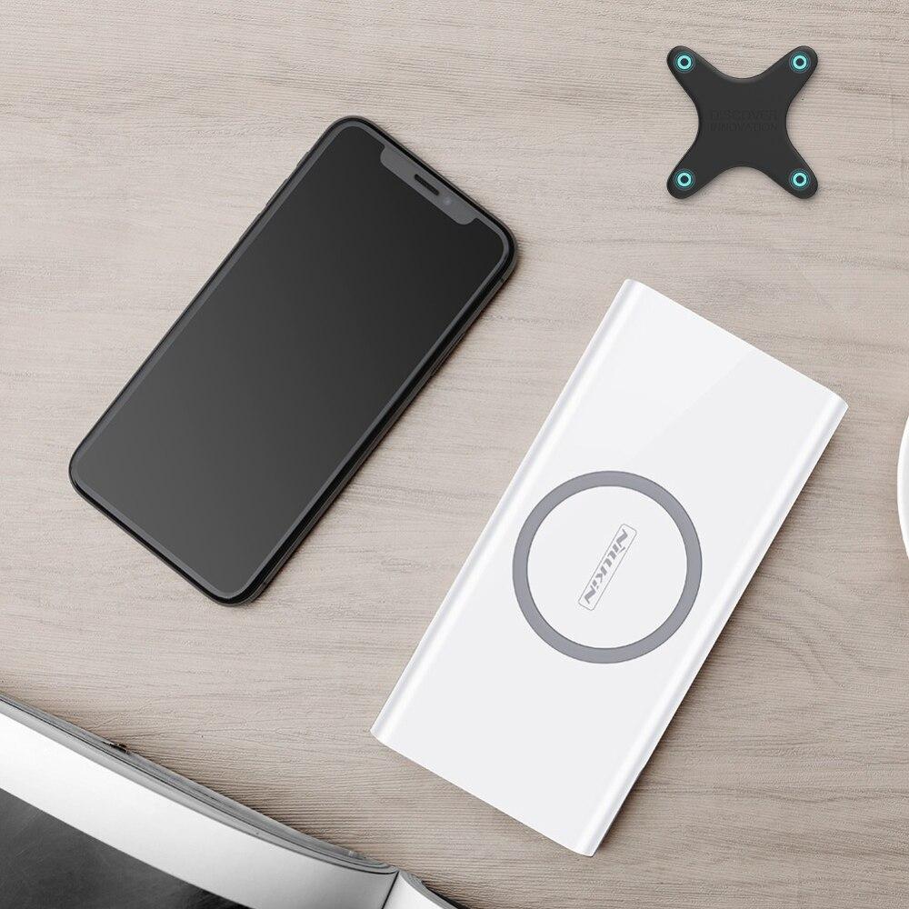 Qi chargeur sans fil batterie externe NILLKIN 10000 mAh batterie externe Pack portable voyage pour iPhone X 8 Plus pour Samsung pour xiaomi