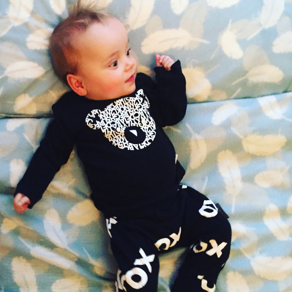 8bf54af63 Casual newborn baby boy clothes high quality baby girl clothing set long  sleeve t-shirt