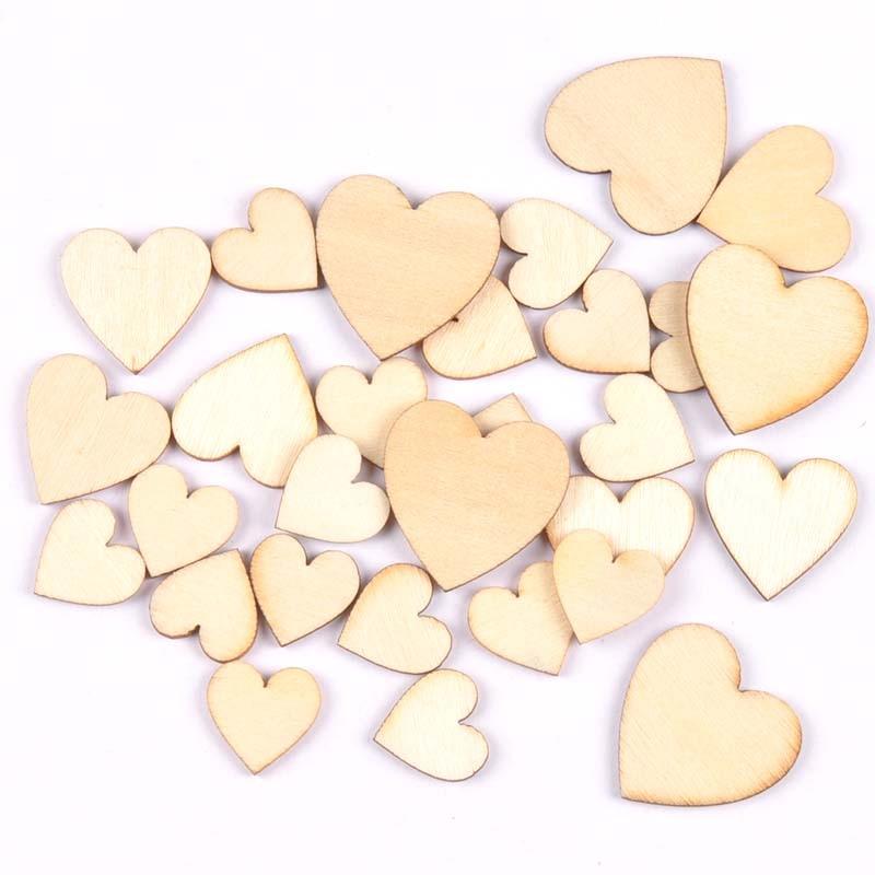 20x Wooden Hearts Laser Cut 8 X 8 cm Mdf Shape Blank
