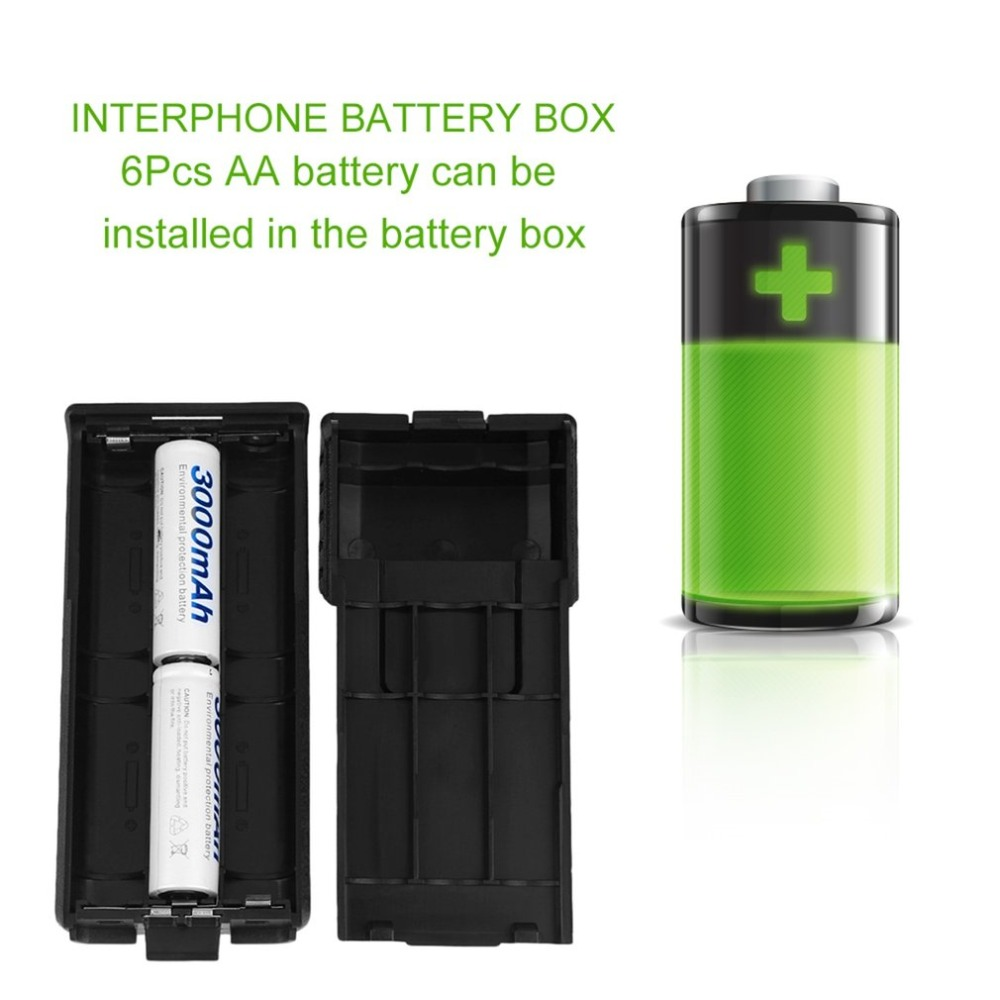 Battery Box Case Portable Battery Storage Case For Baofeng F8 F9 UV-5R Two-Way Radio Walkie Talkie Battery Box Plastic