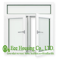 Economical Upvc Arched casement window for apartment, double glazing arch upvc window with white profile, arch top windows