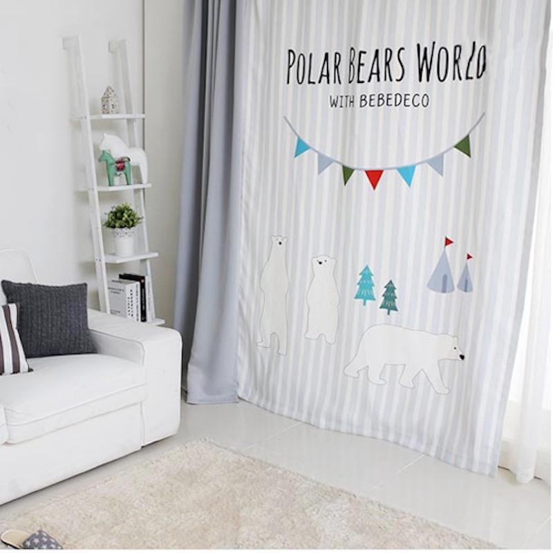 primas ojal cortinas cortina cortina nursery nios habitacin nios que cubre x cm cm