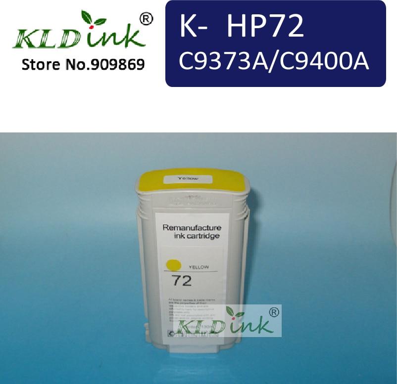 HP72 C9373A/C9400A Giallo Cartuccia di Inchiostro di Ricambio per DesignJet T1120ps, T1200, T1200ps, T1300 printer