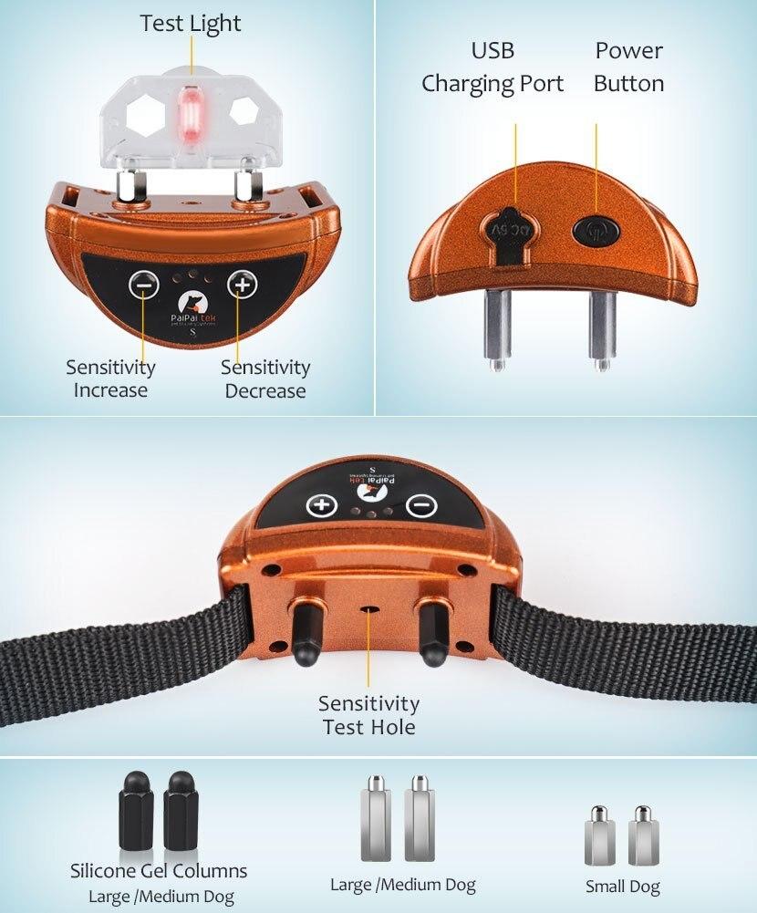 Paipaitek Upgraded Dog Bark Collar 45 Days Ultra Long Working Time Safe Effective Bark Stop Collar for Dog w/ Sound / Shock Mode 3