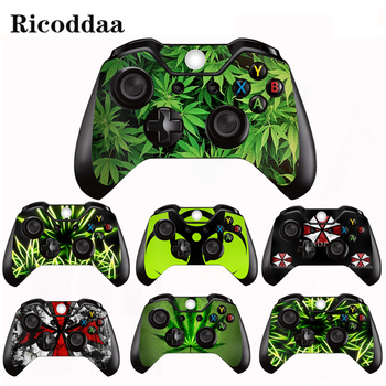 Green Leaves Vinyl Decal Skin Sticker For Microsoft Xbox One/Slim Controller Protective Cover Sticker For Xbox One Gamepad Skin