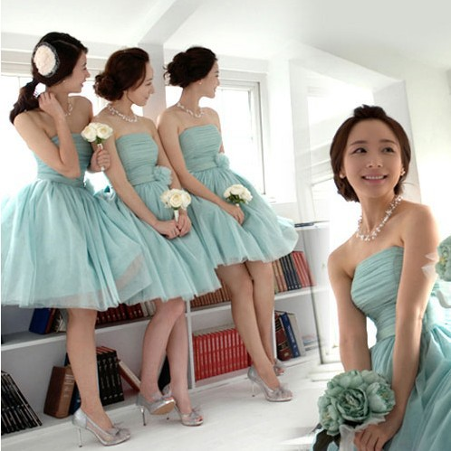 Free Shipping Purple Mint Junior Bridesmaid Dress Short Stretchy Wedding Party Guest Dresses Cheap Sale For Brides Maid SD261 In From