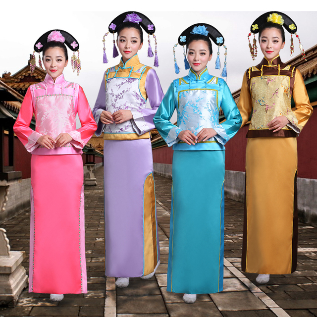 New arrival Fashion Chinese Folk Dance costume ancient fairy dress The Qing Dynasty Princess Clothes film TV performerce costume