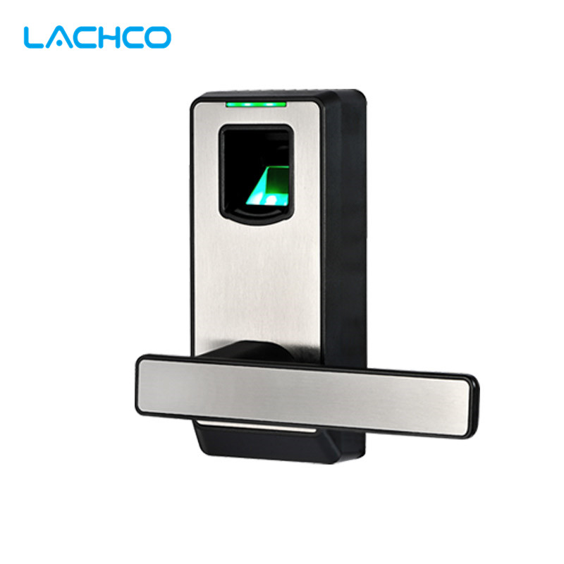 LACHCO Fingerprint Door Lock Biometric Electronic Lock with DeadBolt Keyless Smart Entry For Home Office Room L16082BS one for five electronic door lock bluetooth biometric smart fingerprint electronic lock for outdoor entry door