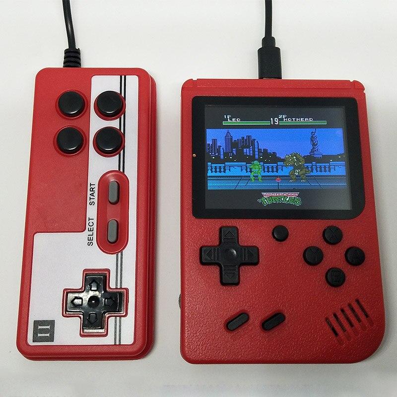 Eingebaute 400 Spiele 1000 mAh Batterie Retro Video Handheld Spielkonsole + Gamepad 2 Spieler Verdoppelt 3,0 Zoll Farbe LCD spiel-Player