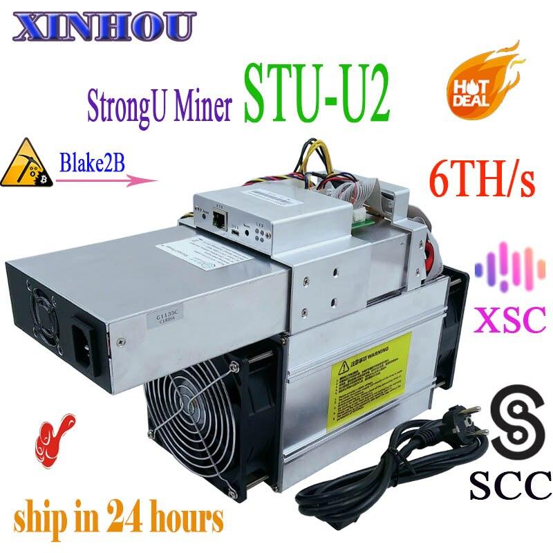 SCC XSC minatore StrongU Minatore STU-U2 Blake2b 6TH/S Asic qualità migliore di antminer A3 S9 S11 Z9 Z11 b7 Innosilicon S11 T3 M3 M10