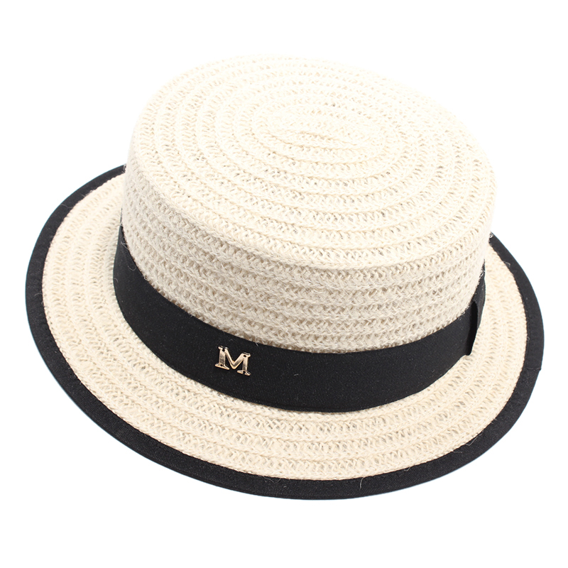 6f61a5d7ea8 Women Flat Top Summer Hats Casual Cotton Line Small Fedora Sun Hats For Men  Beach Caps Chapeau Homme-in Sun Hats from Apparel Accessories on  Aliexpress.com ...