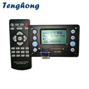Image 1 - Tenghong decodificadores MP3 Bluetooth 4,2 con grabación, MP3 WAV WMA APE DC5V, batería de 12V, placas decodificadoras de entrada de Audio bidireccional para bricolaje