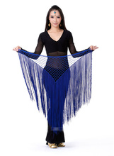 Ladies Hip Scarf With Triangular Net Tassel Wrap Belt Sash Indian Belly Dance Costume Accessories t119