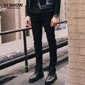 2016 новое поступление мужчины карандаш люди уменьшают подходящий брюки прямые черные свободного покроя брюки мужчины дышащие брюки