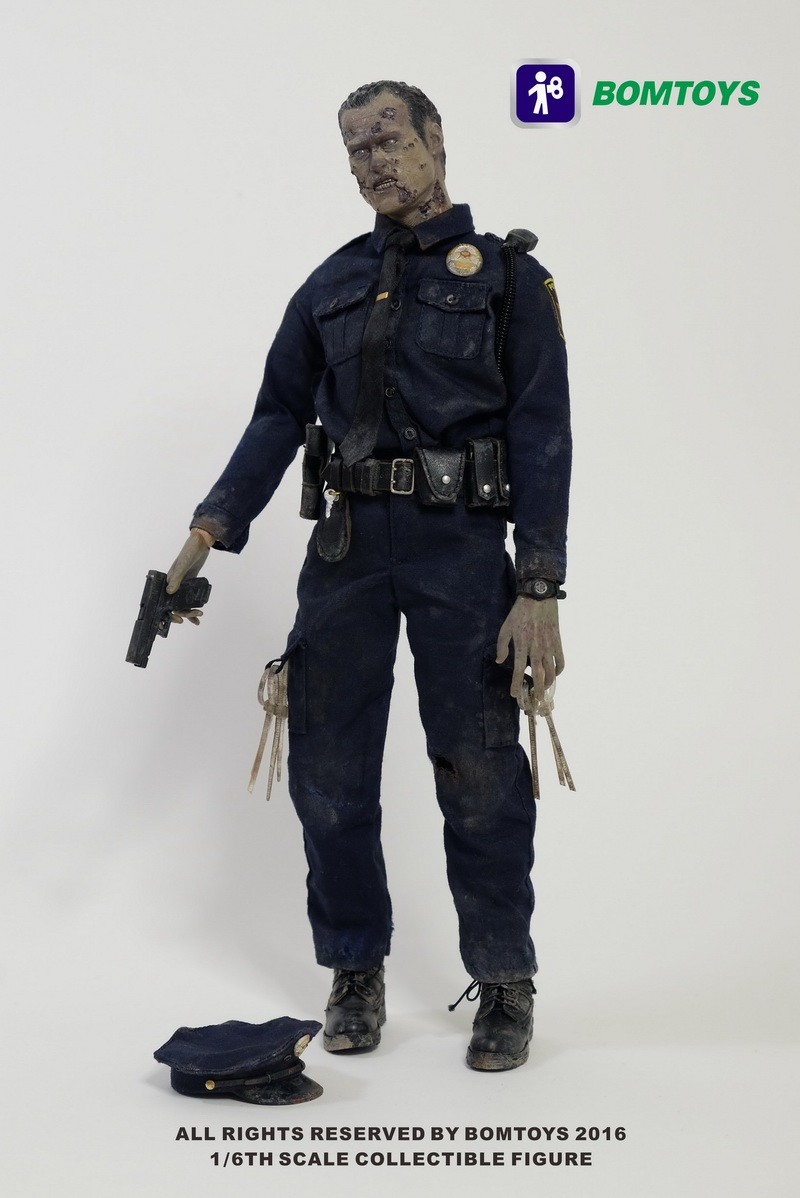 BOM TOYS  1/6th scale figure Collectible Model plastic toy Officer Zombie The Walking Dead 12 Action figure doll рюкзак salomon salomon trail 20 galet светло зеленый 20л