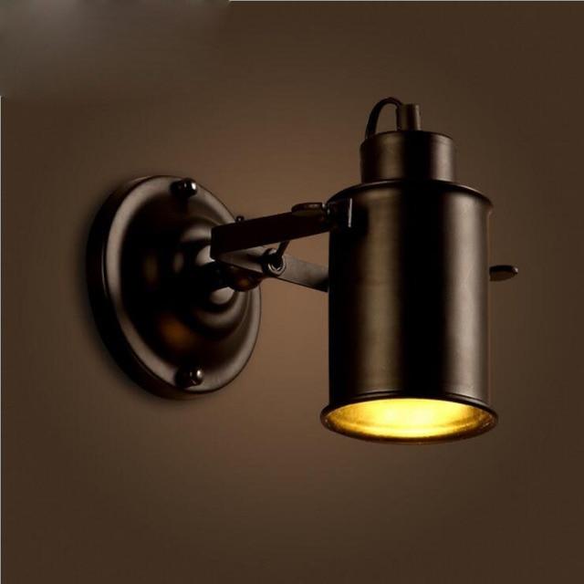 American Loft Hotel Corridor Retro Iron Wall Lamp Aisle Coffee Shop  Restaurant Bedside Shop Lighting Fixture