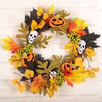 13.78'' Halloween Hanging Wreath Scarecrow Girl Witch Festival Creative Jewelry Bar Birthday Decoration Halloween Decoration