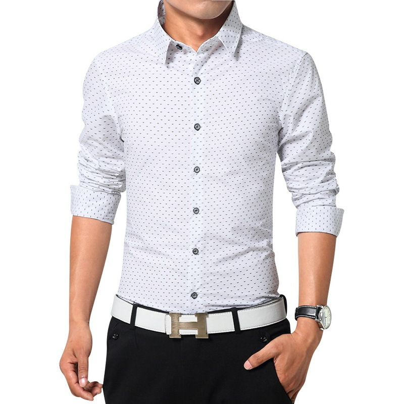 Top quality men dress shirts long sleeve shirts size m 3xl for Mens dress shirt sleeve length