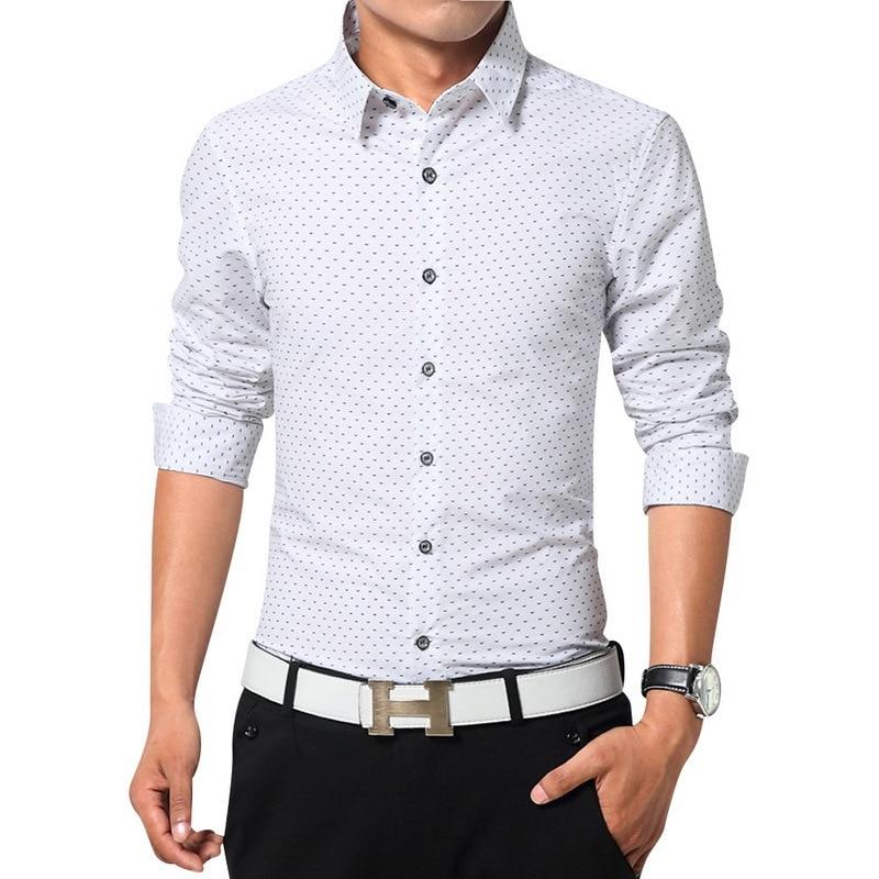 Top quality men dress shirts long sleeve shirts size m 3xl for Mens dress shirts sizes