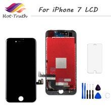 1 шт. 100% протестированный Экран AAA +++ для iPhone 7 7 plus 8 8 plus ЖК дисплей дигитайзер сенсорный экран в сборе + закаленное стекло + Инструменты