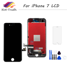 1PCS 100% Tested AAA+++ Screen For iPhone 7 7 Plus 8 8 Plus LCD Display Digitizer Touch Screen Assembly + Tempered Glass+ Tools