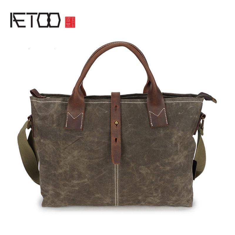 AETOO Brand Ladies Casual CrossBody Handbags Simple Leather Shoulder Messenger Bags Bolsas Feminina Denim Women cowboy cloth bag