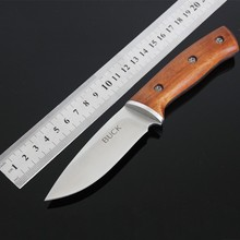 Hot Survival Knife BUCK Fixed 7CR13MOV Blade Knife With Nylon Sheath Tactical Knifes Hunting Camping Knives Outdoor Tools v50