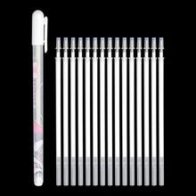 Pen+Refill Set Gel Pen Highlight Refill White Color Shinning Refill Painting Markers Drawing Pen School Supplies Multifunction
