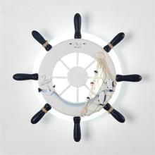 Thrisdar5W Creative Helmsman LED Wall Lamps Mediterranean bedroom bedside Light Children Baby Kids Cartoon Lamp