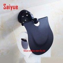 Масло втирают бронза туалетная бумага держатель рулона туалетной бумаги стойку с крышкой античный черный настенный металлический кристалл сделано