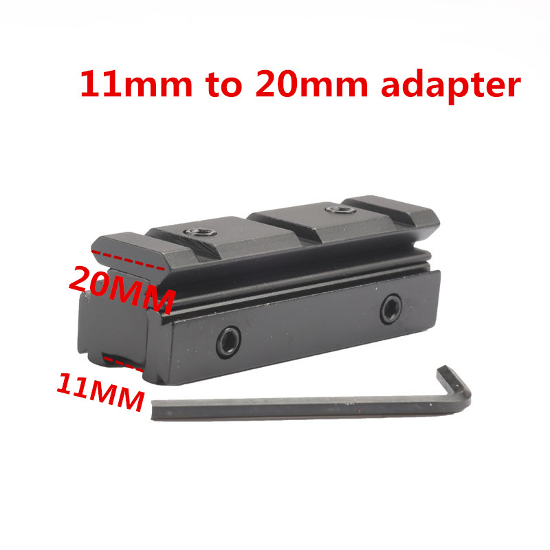 Mizugiwa Scope Mount Dovetail 11mm To 20mm Weaver Riser Rail Rifle Scope Mount Base Adapter Converter Hunting Accessories Chasse