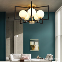 Modern LED chandelier ceiling Glass ball lamps Nordic hanging lights bedroom lighting fixtures living room suspension luminaires