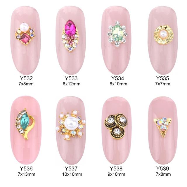 10pcs Nail Art Crystal Design Bijoux Glitter Str Ongle Rhinestones Bow Accessories