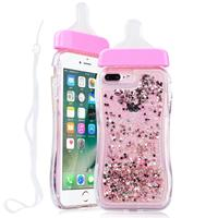 For IPhone7 Plus Cute 3D Baby Nipple Milk Bottle TPU Gel Case Cover Bling Colorful Dynamic