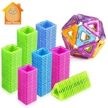 52-106 шт. Мини магнитные блоки Обучающие строительные наборы модели и строительные игрушки ABS Магнит конструктор Детские магниты игры подарок