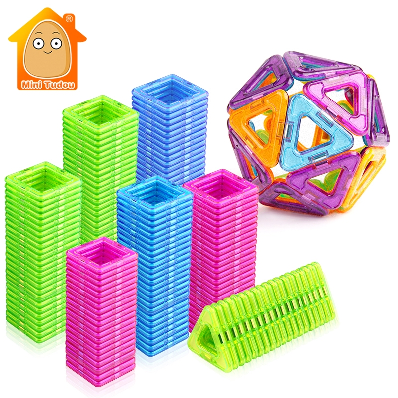 52-106 stücke Mini Magnetische Blöcke Bildungs Bau Set Modelle & Gebäude Spielzeug ABS Magnet Designer Kinder Geschenk