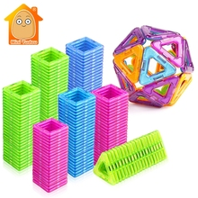 52-106 шт. мини Магнитные Блоки образовательный Строительный набор моделей и конструкторская игрушка АБС магнит дизайнер детский подарок