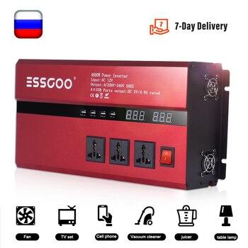 ESSGOO modified sine wave inverter 12V 220V digital display 3000W 4000W DC to portable car power adapter