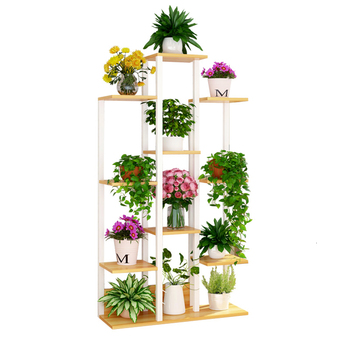 Multi-storey Indoor A Living Room Province Space Balcony Shelf Landing Type Iron Meat Flowerpot