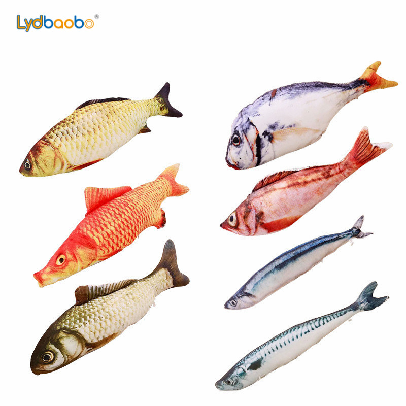 1pc Funny Simulation Fish Plush Toy Stuffed Fish Carp Plush Animal Toys Pet Cat Dog Toy Baby Kids Room Decor Birthday Gift