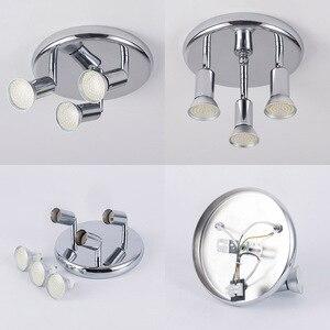 Image 3 - Lámpara Led giratoria montada en el techo, lámparas de araña LED ajustables para sala de estar, comedor, cocina, blanco y negro y plata