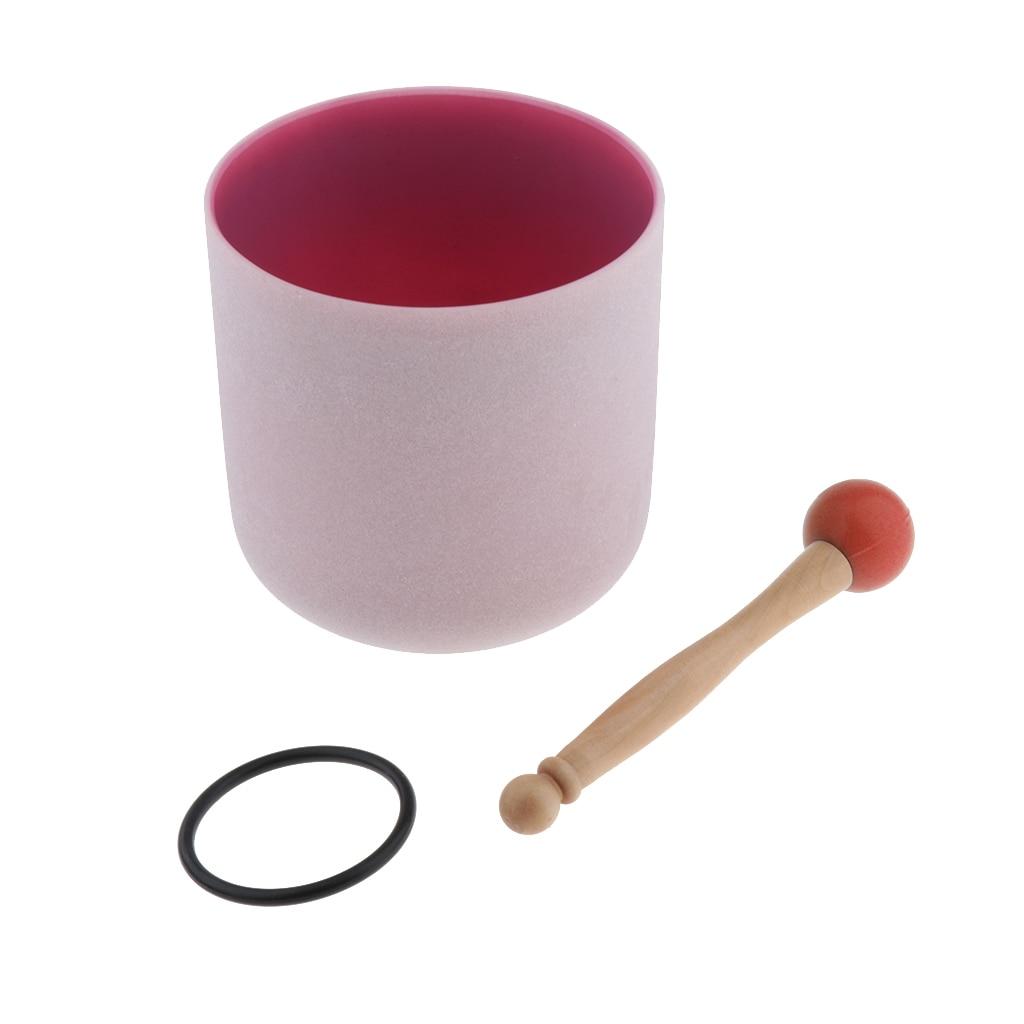 Cristal chantant bol C Note coeur Chakra 6 pouces (joint torique et maillet en caoutchouc inclus), aider les gens à méditer-4 couleurs en option - 6