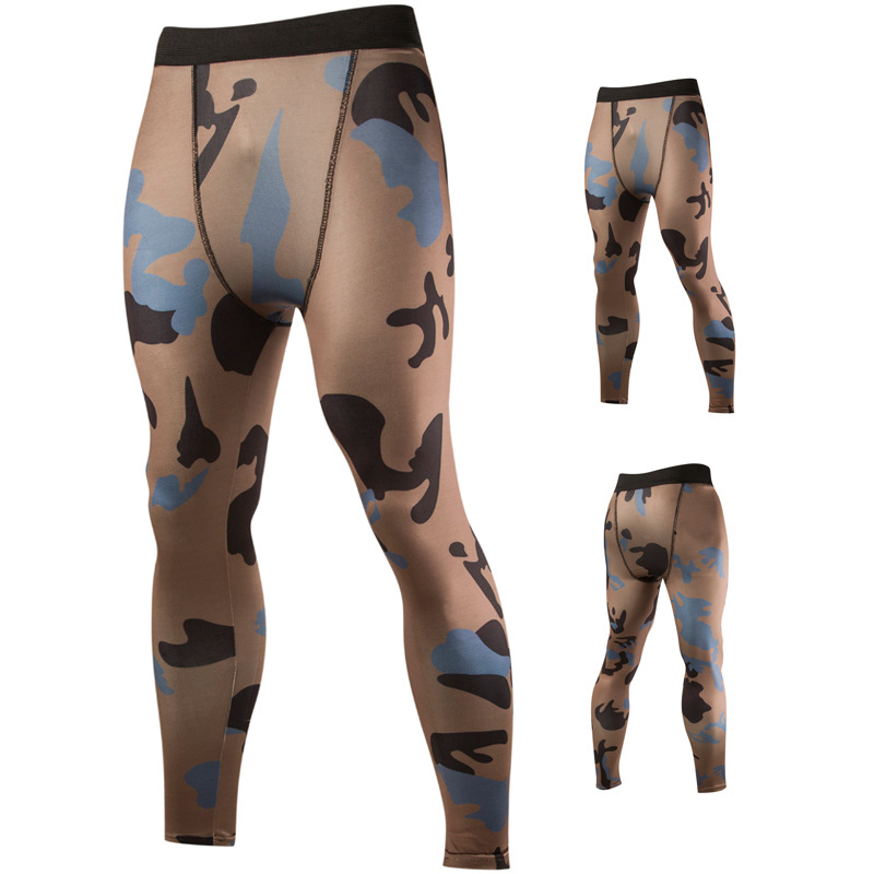 Cycling Pants Men's 2016 Spring And Summer New Style Digital Printing Men Breathable Camouflage Tight Sports Trousers 8833