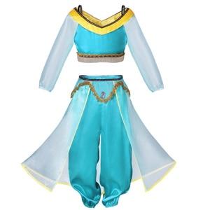 Image 5 - 夏のドレスジャスミンドレス子供の王女の衣装子供カーニバル誕生日パーティーの服コスプレアクセサリーかつら