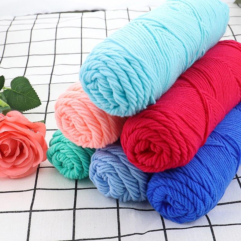 Оптовая продажа, 500 г/лот, натуральная мягкая шелковая молочная хлопковая пряжа, толстая пряжа для вязания, Детская шерстяная пряжа для вяза...