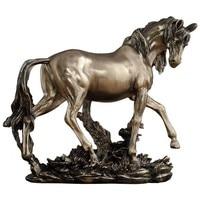 EUROPEAN STYLE FINE HORSE STATUE ABSTRACT ANIMAL FIGURINE BRONZE HORSE ART SCULPTURE RESIN CRAFTS HOME DECOR ORNAMENT R1370