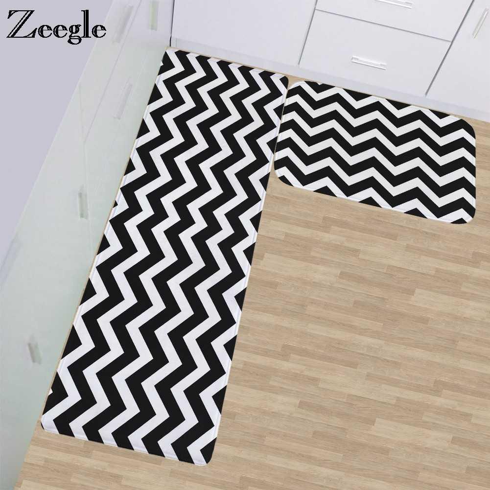 Zeegle полоса Балконный стол стул пол ковер коврики для гостиной абсорбирующий нескользящий кухонный коврик для спальни ковер