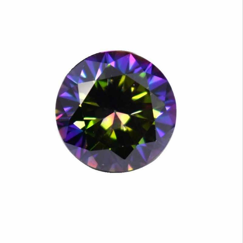 Bộ 50 Sắc Màu Pha Lê Zircon Hạt Trang Sức Làm Đá Cubic Zirconia Có Lỗ TỰ LÀM Bông Tai Vòng Cổ Vòng Tay Hạt R5
