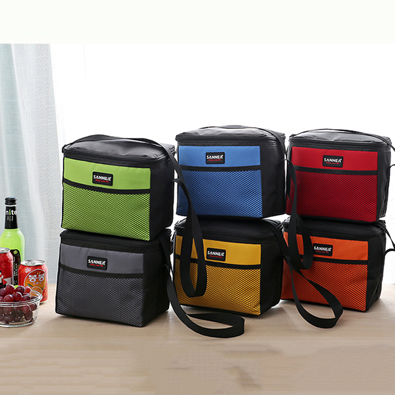 Waterproof Insulated Cooler Bag Small Thermal Lunch Box Picnic Food Storage Tote Bag Small Portable Ice Bags Lunch Packet Box
