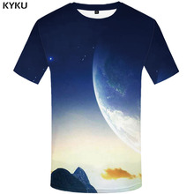 3d Tshirt Galaxy T-shirt Men Earth T-shirts Mountain Tshirts Casual Space Funny T shirts Harajuku Anime Clothes Mens Clothing